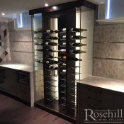 (34) Wine Cabinet with Modern Peg System
