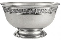 Pear & Grape Pewter Bowl