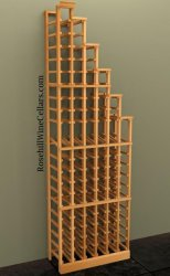 Waterfall Right Wood Wine Rack 7ft+