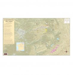 Champagne Region Wine Map