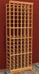 Individual Bottle 6 Column Wood Wine Rack 6ft+