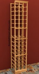 Individual Bottle 3 Column Wood Wine Rack 6ft+