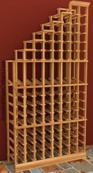 Waterfall Left Wood Wine Rack 6ft+