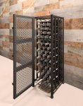 Short Single Wide Wine Locker