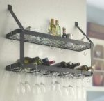 Estate Wine & Glass Rack Double