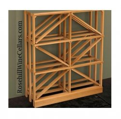 Half Height Diamond Wood Wine Rack 7ft+
