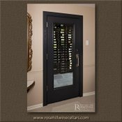 (48) White Oak Wine Cellar Door - Stained Black