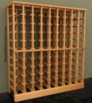 Half Height - 9 column 750mL Wood Wine Rack 7ft+