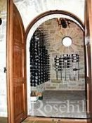 (35) Arched Entrance to Brick & Metal Wine Cellar