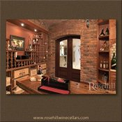 (5) Custom Wine Cellar With Double Doors & Glass Etching SL