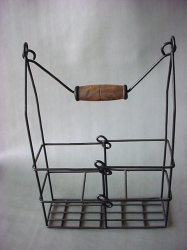 Antique Brass Finish Wine Holder
