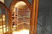 (48) Arched Angle Display invites you to wine cellar