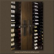(28) Brushed Aluminium Hardware - a Contemporary Entrance to Wine Cabinet SL-TR-04