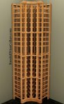 Curved Corner Wood Wine Rack 7ft+