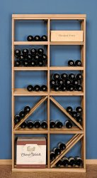 12 Bottle Box / Diamond Wine Rack Combo