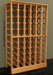 Half Height - 6 Column 750mL Wood Wine Rack 7ft+