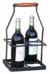 Iron & Wood Wine Bottle Holder