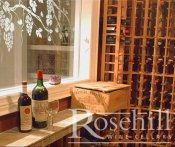 (27) Tasting Ledge and Decorative Window to wine cellar