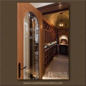 (16) Custom Wine Cellar Door to Complement Arched Ceiling Within
