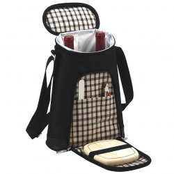 London Two Bottle Wine & Cheese Tote