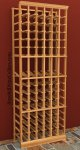 Individual Bottle 6 Column Wood Wine Rack 6ft