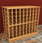 Double Deep Wood Wine Rack Table 6ft
