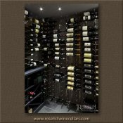 (1) Brushed Nickel Wall Mounted Wine racks