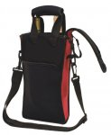 Picnic Neoprene Two Bottle Bag with Freezer Packs
