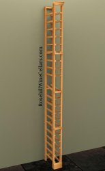 Individual Bottle 1 Column Wood Wine Rack 7ft+