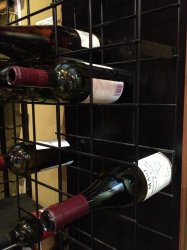 Metal Wine Rack With Grid Metal Wall Wine Rack