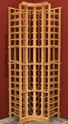 Curved Corner Wood Wine Rack 6ft+