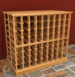 Double Deep Wood Wine Rack Table 6ft+