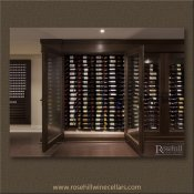 (27) Oversized Glass Doors Allow Full Access to Narrow Wine Cellar SL-TR-03