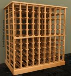 Double Deep Wood Wine Rack Table 7ft+