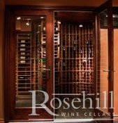 (14) Double Door Glass Entrance to Wine Cellar