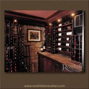 (8) Oakville - Custom Stained Wine Cellar