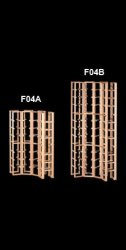 F04 Curved Corner Wine Rack