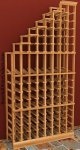 Waterfall Left Wood Wine Rack 6ft