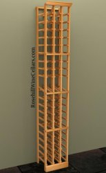 Individual Bottle 3 Column Wood Wine Rack 7ft+