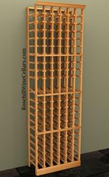 Individual Bottle 6 Column Wood Wine Rack 7ft