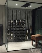 (8) Modern Glass Wine Cellar with VintageView Racks