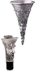 Bacchus Pewter Wine Funnel and Pourer