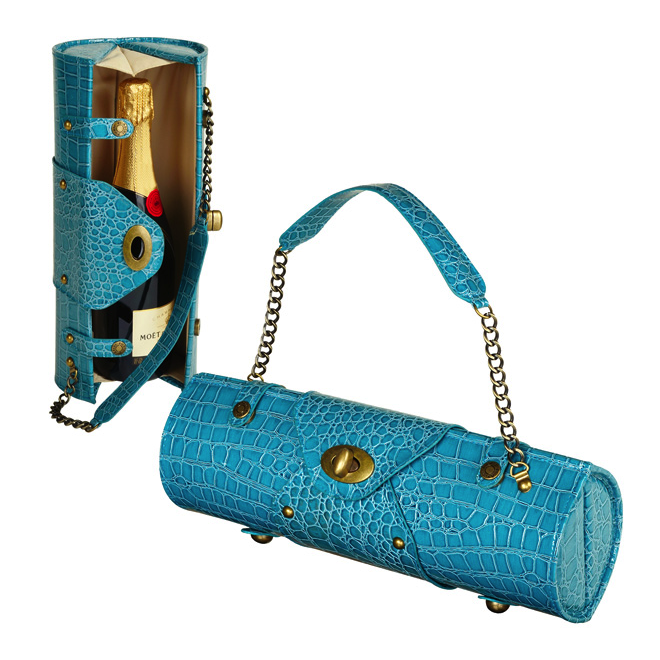 Turquoise Wine Purse