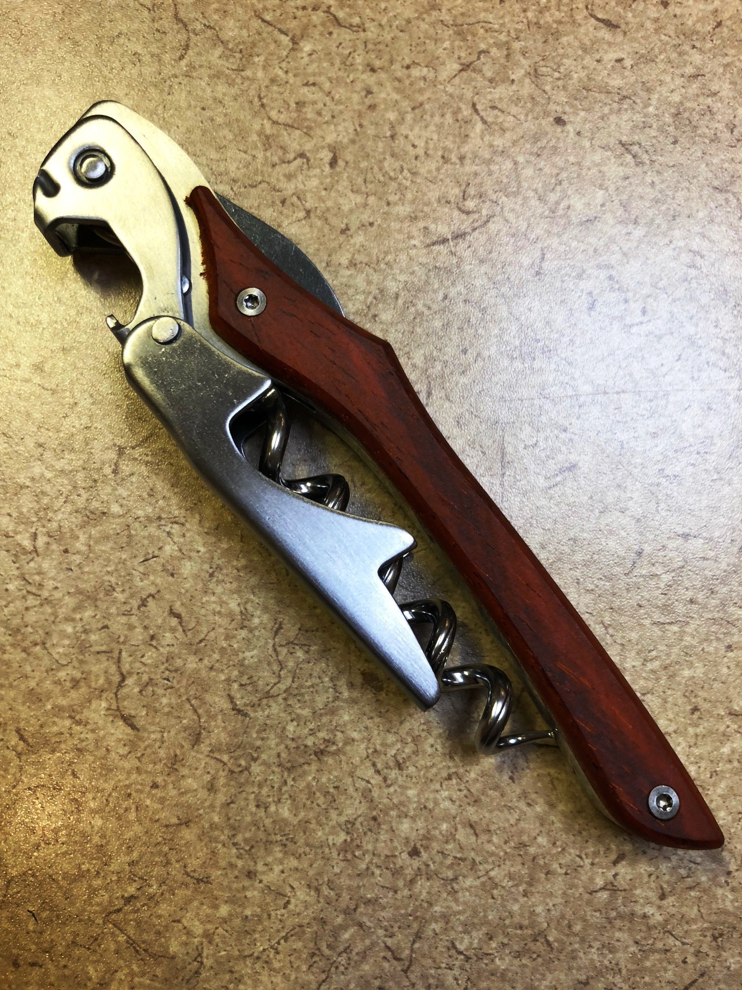 Castello Waiter's Corkscrew with Cocobolo Wooden - Click Image to Close