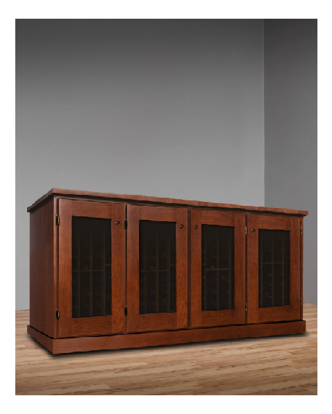 Basic Window Credenza 4 Door