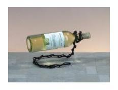 Black Metal Chain Wine Bottle Holder