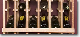 Wine storage angle display