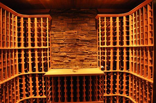 Sample Wine Cellar with Modular Wood Wine Racking