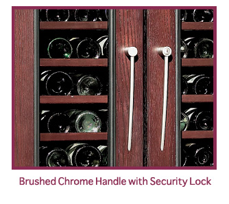 wine cabinet brushed chrome handle
