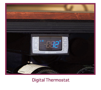 Wine cabinet digital thermostat